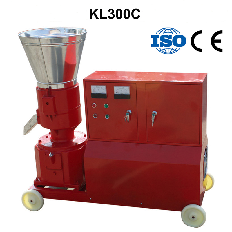 KL300C 22KW Pellet Press Animal Feed Wood Pellet Mill Biomass Pellet Machine