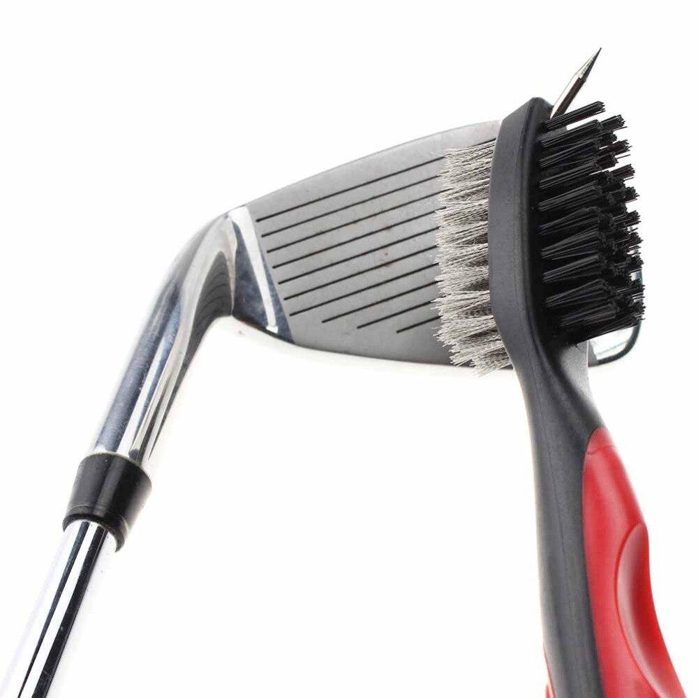 Golf Groove Cleaning Ganda Sisi Dengan Keychain Untuk Bola Golf Putter Wedge  Klub Isyarat Cleaner Peralatan Alat Portabel di Pelatihan Golf Aids dari ... 64bd8372e5