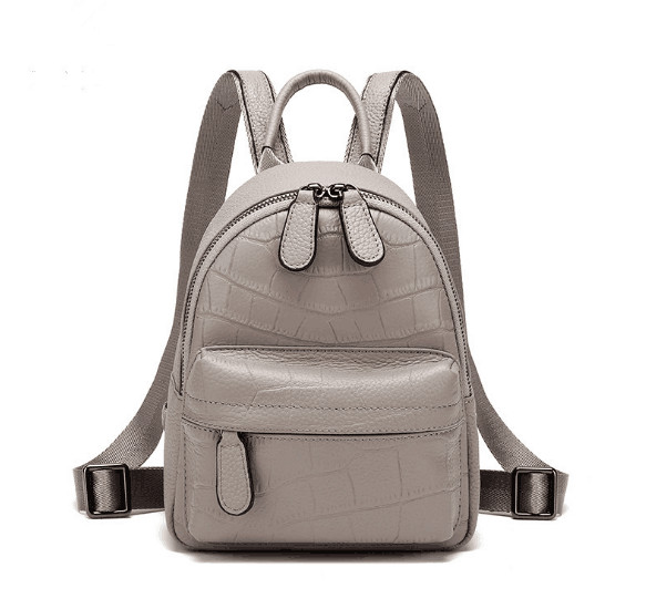 Genuine Leather Small Size Women Backpack School Bag High Quality