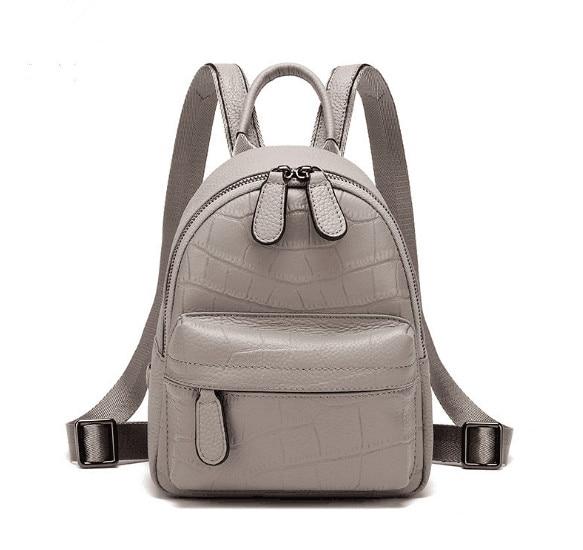 Mochila De Cuero genuino de tamaño pequeño para mujer mochila escolar de alta calidad-in Mochilas from Maletas y bolsas    1
