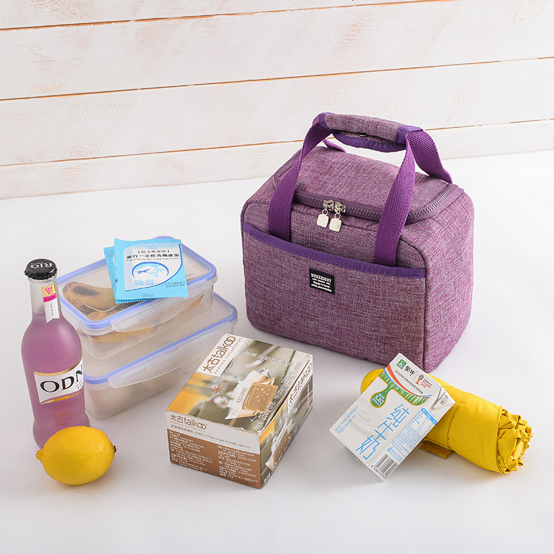 Image 4 - Waterproof Insulated Lunch Bags Oxford Travel Necessary Picnic Pouch Thermal Dinner Box Food Storage Case Accessories Organizer-in Storage Bags from Home & Garden