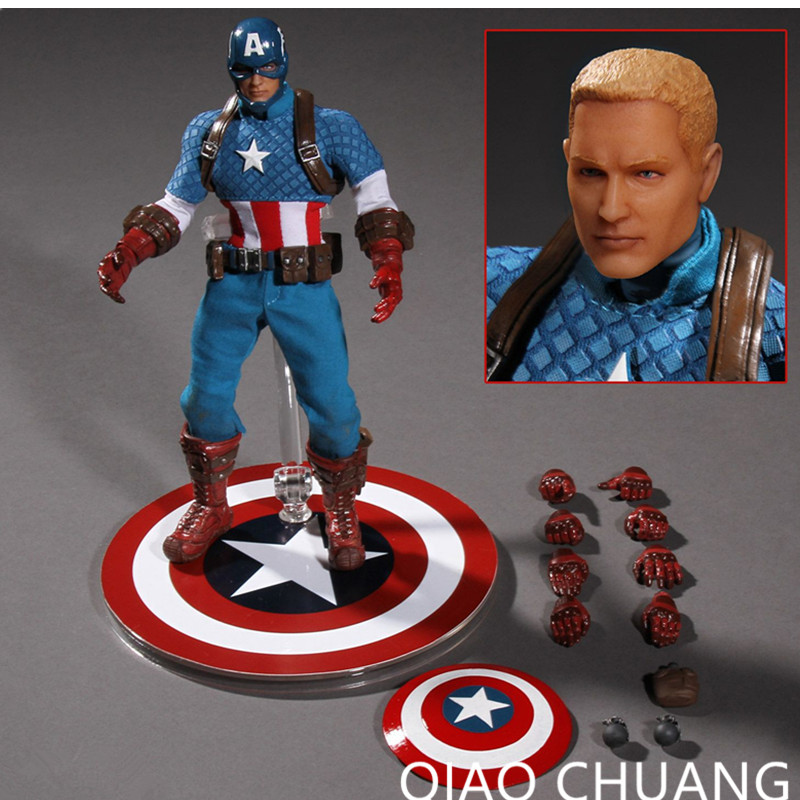 Avengers:Infinity War SUPER HERO Universe Steve Rogers Commoner Captain America Super Soldier PVC Action Figure Model Toy G54