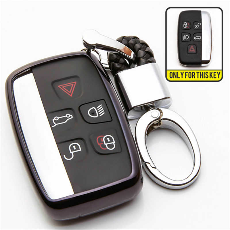 TPU Case Penutup Kunci Mobil untuk Jaguar XF Gitar F Kecepatan Xe X-Jenis XJ F-Kecepatan F -Jenis Aksesoris untuk Land Rover Discovery Gantungan Kunci Tas
