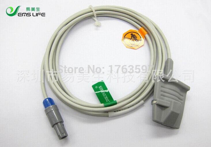 Long Calbe Adult silicone soft Finger clip SPO2 Sensor compatible XINDALU