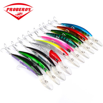 180mm/27g Colorful Minnow Fishing Lure Hard Bait Saltwater Bass Crankbait Treble Hook Sea Fishing Folating Wobbler Trolling Bait 1pc 80mm 8 6g minnow fishing lures hard bait 6 hook sea fishing trolling wobbler fresh salt water crankbait artificial jerkbait