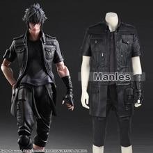 Final Fantasy XV Noctis Lucis Caelum Cosplay Costume Adult Men Anime Game Costume Cosplay Black Jacket Full Set Custom Made Male