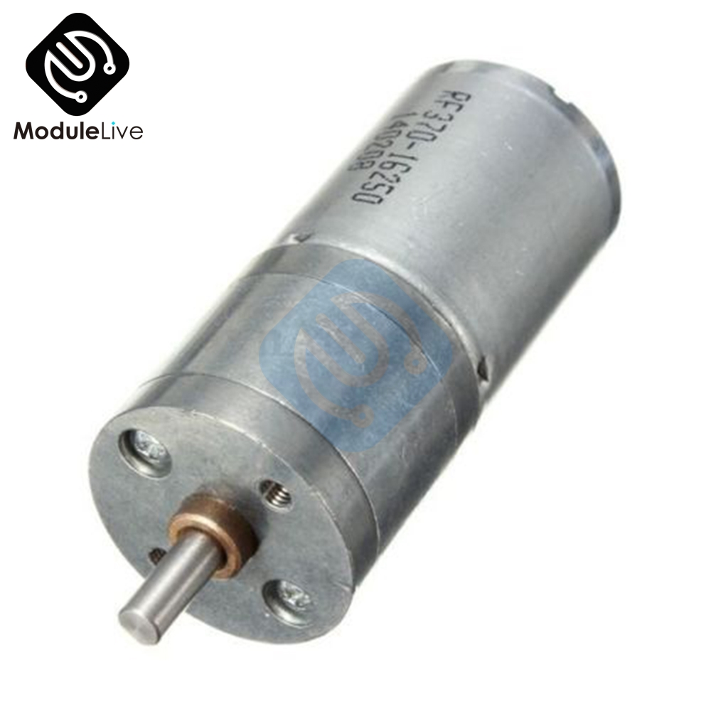 25GA370 DC <font><b>12V</b></font> <font><b>Motor</b></font> Speed Reduction Gear <font><b>Motor</b></font> Electric <font><b>12V</b></font> DC 60RPM Powerful Torque <font><b>25mm</b></font> image