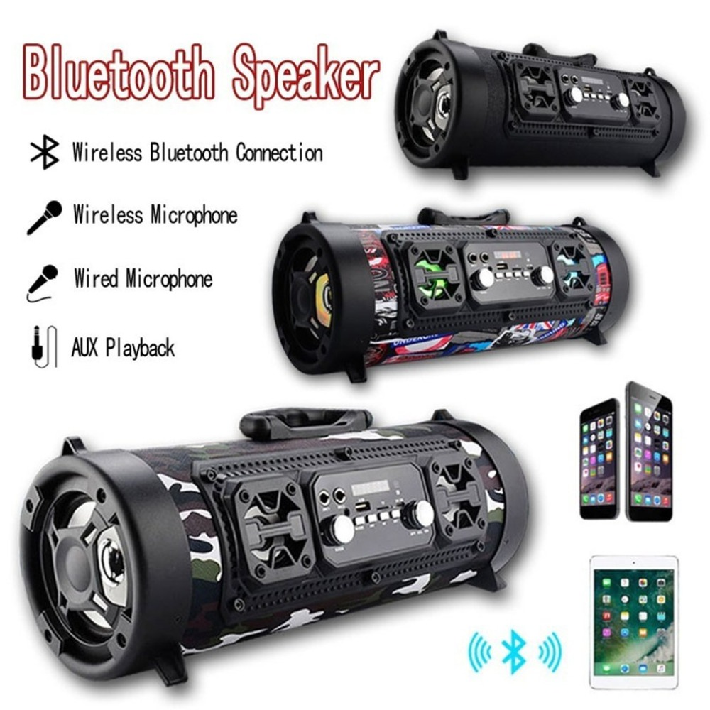 CH-M17 Portable Outdoor Bluetooth Speaker Wireless Multi functional Bass Surround LED Speaker with Mic Support TF Card 2015 new arrival high quality mini lightweight portable premium sound wireless bluetooth speaker with rechargeable battery enhanced bass support micro tf card with led light s68u yellow