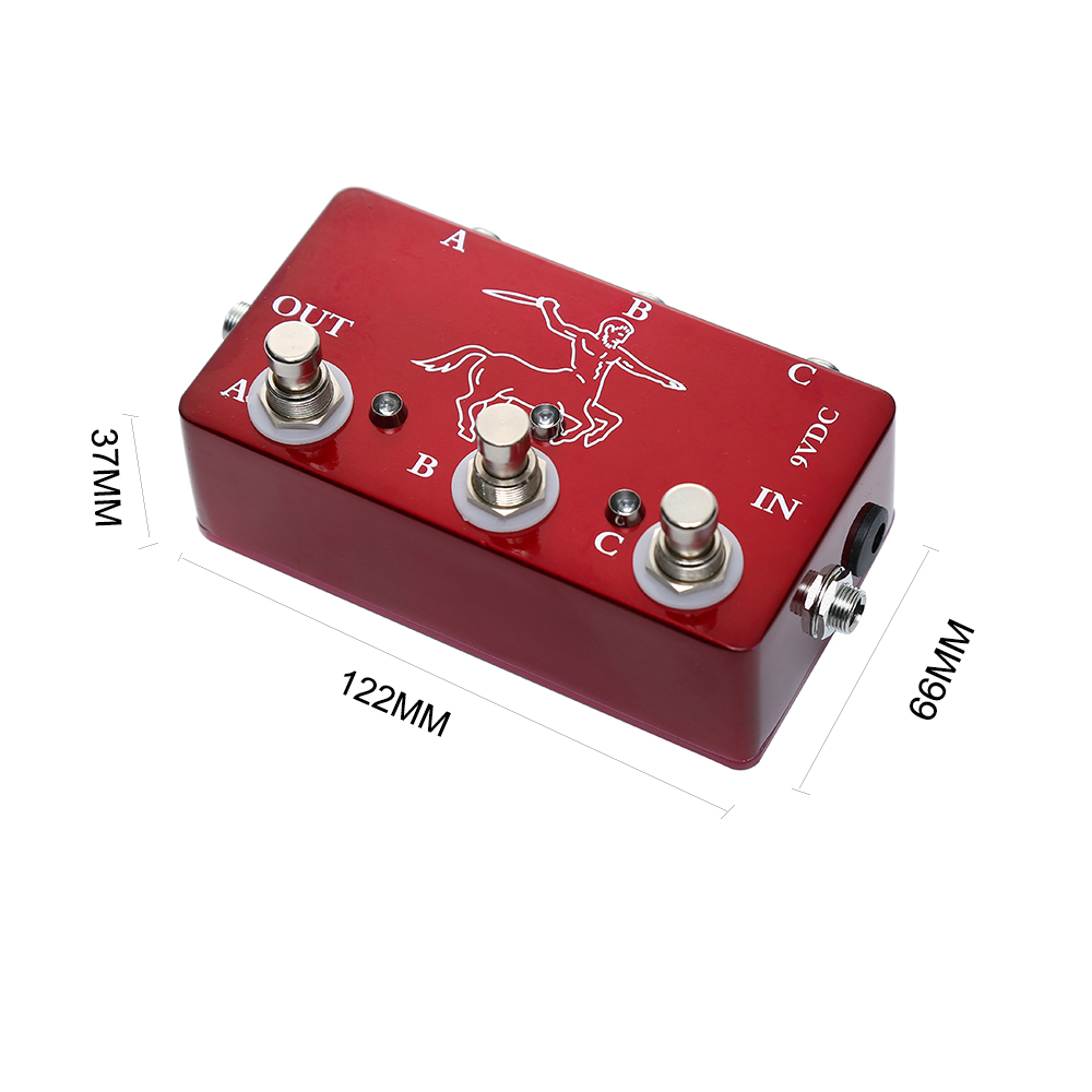 Купить с кэшбэком Portable Red Color Effects 3 Loop Switch Pedals Ture Bypass Looper Pedal For Electric Guitar Accessories