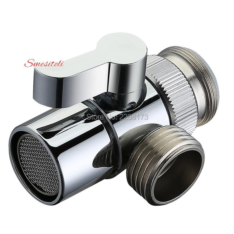 Hot Sale Polished Chrome Brass Diverter for Kitchen Sink Faucet Replacement Part Bathroom Shower Basin Faucet Spout M22 X M24
