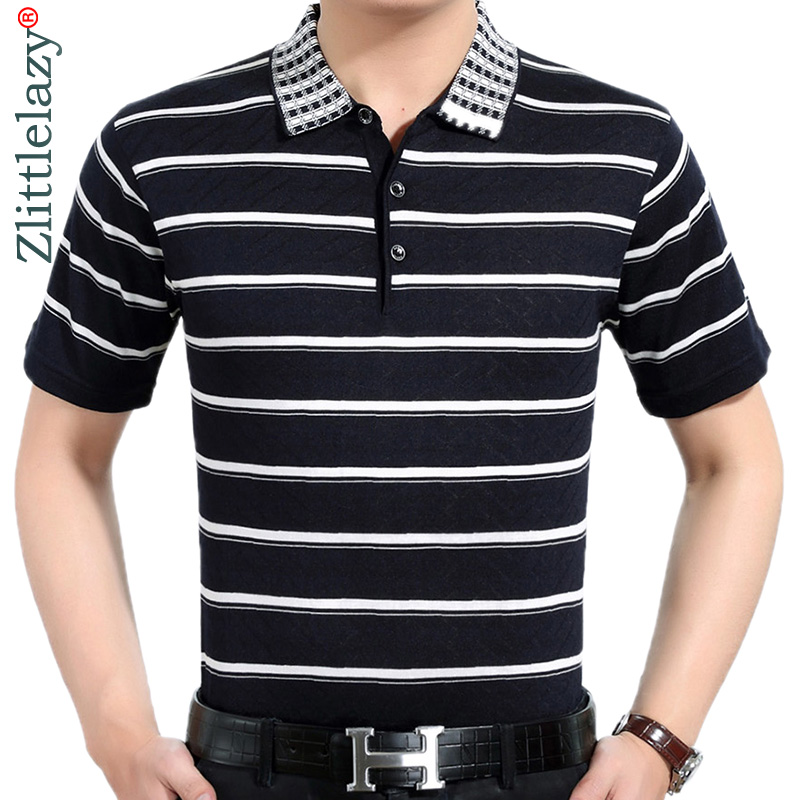 2019 brand casual summer striped short sleeve   polo   shirt men poloshirt jersey luxury mens   polos   tee shirts dress fashions 41619