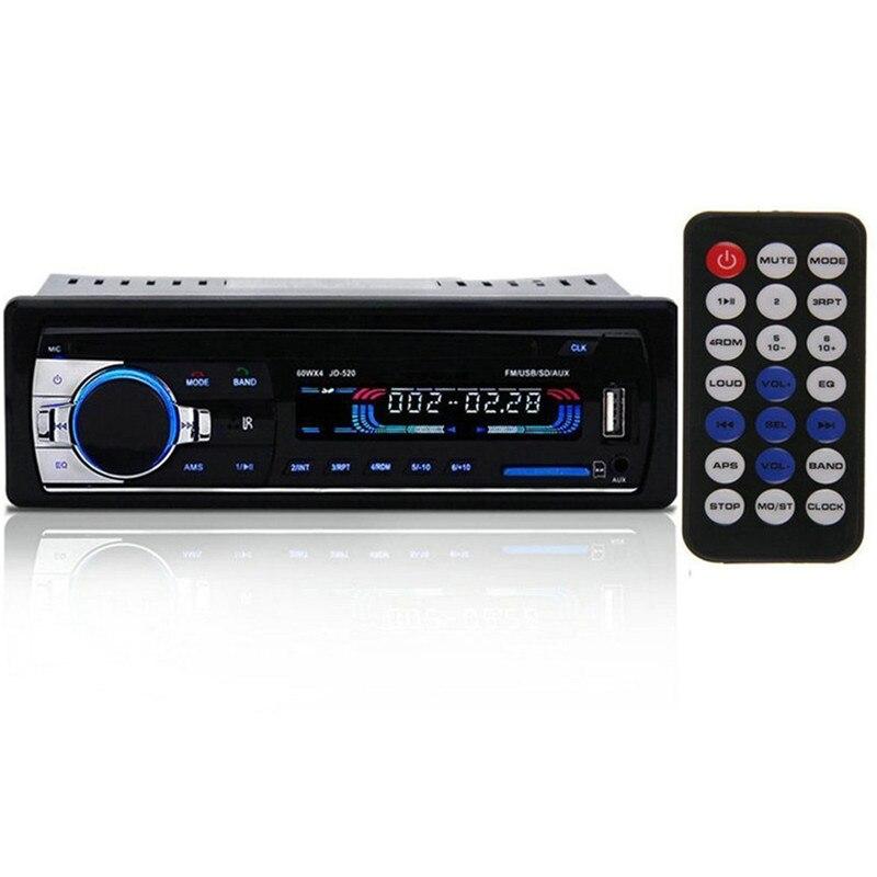 Автокөлік радиосы 12V Bluetooth V2.0 JSD520 - Автомобиль электроникасы - фото 4