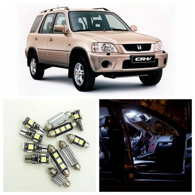8pcs White Car Led Light Bulbs Interior Package Kit For 1997 1998 1999 2000 2001 Honda Cr V Map