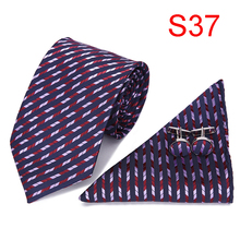 Mens Ties 2018 Blue Black Stripes Tie Hanky Cufflinks Set Hot Selling for Handsome Men Business Gift men