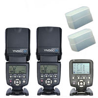 Yongnuo YN560TX LCD Wireless Flash Controller +2pcs YN560 IV Flash kit For Canon,Yongnuo Flash