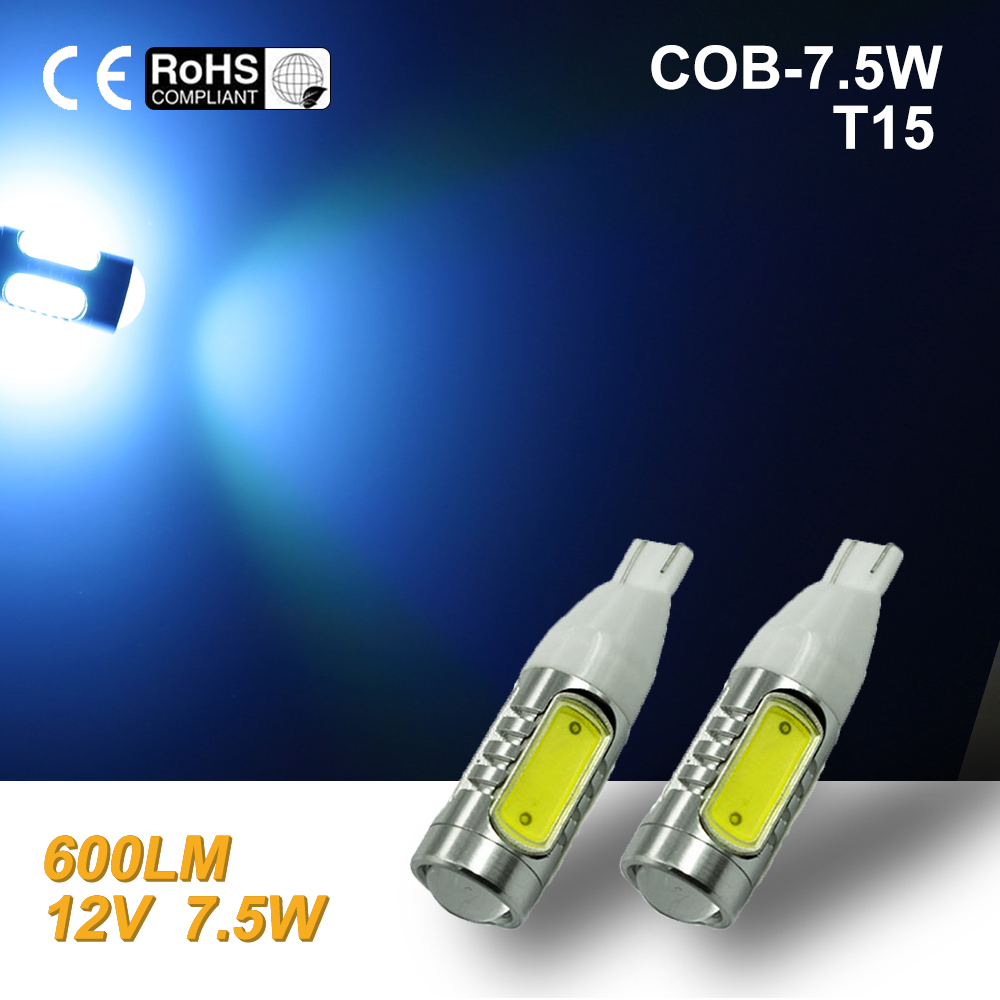 White High Power COB T10/T15 7.5W LED Projector Backup Reverse LED Lights 921 Blue