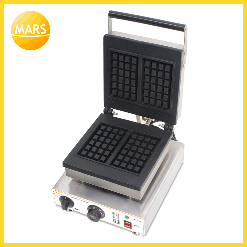 MARS Industrial Commercial Waffle Maker Square Waffle Machine Stainless Steel Waffle Iron Baker Equipment with CE Approved|Waffle Makers| |  - title=