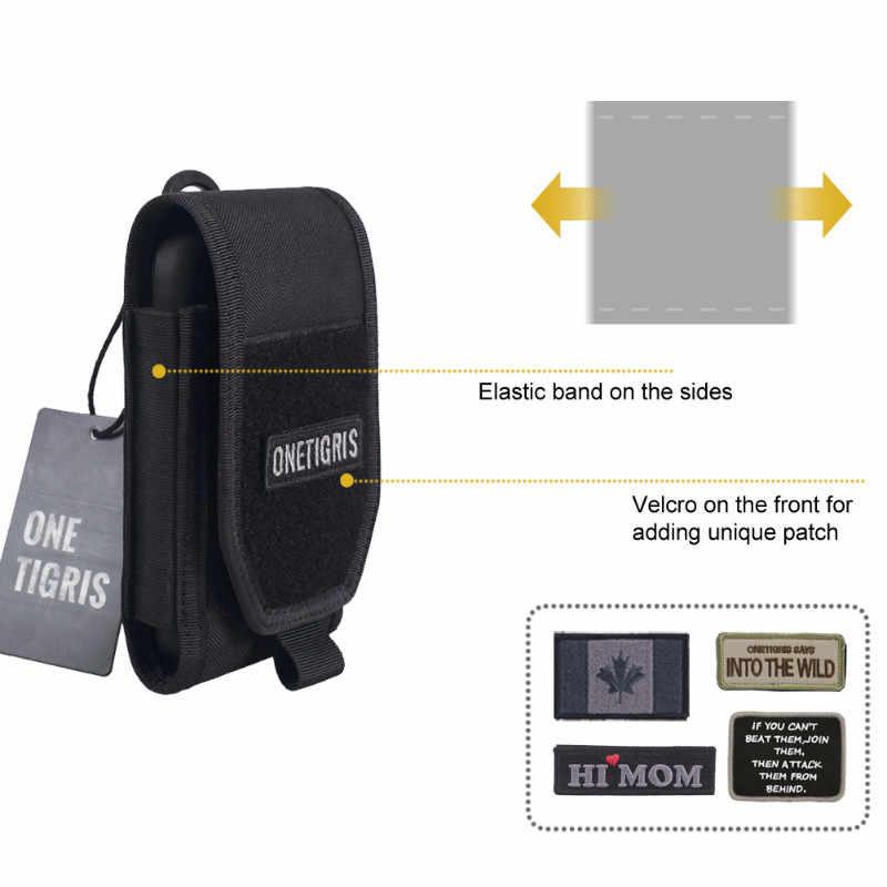 Saco Da Cintura MOLLE Tático Caça OneTigris Smartphone Titular Pouch para iPhone6s SE 8 iPhone6 Plus Plus iPhone X