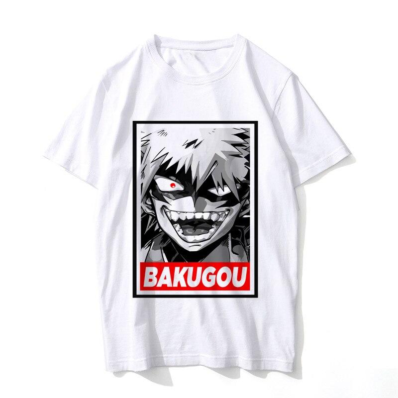 Nuevo Boku No Hero Academia mi héroe Academia Anime hombres camiseta izuku midoriya divertido dibujos animados Tops camiseta para hombre/mujer hombre