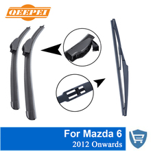 QEEPEI Front and Rear Wiper Blade no Arm For Mazda 6 2012 Onwards High quality Natural Rubber windscreen 24''+18''