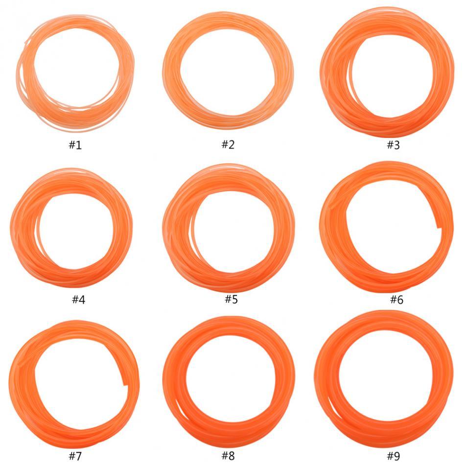 Size:10mm3m Polyurethane Belt Orange Smooth Surface PU Polyurethane Round Belt for Drive Transmission