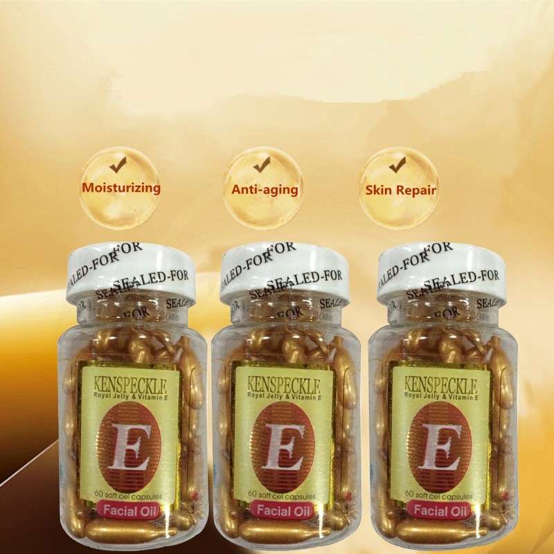 VE Vitamin E Essence Face Cream Whitening Cream Moisturizing Spots Removing Speckles Removal Face Care Anti-aging Serum 60pcs