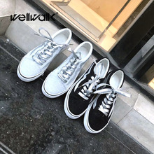 Retro Canvas Shoes Women Glitter White Sneakers Ladies Lace Up Flat Casual  Shoes Vulcanize Trainer Sneakers. 2 Colors Available c8efecc27a23
