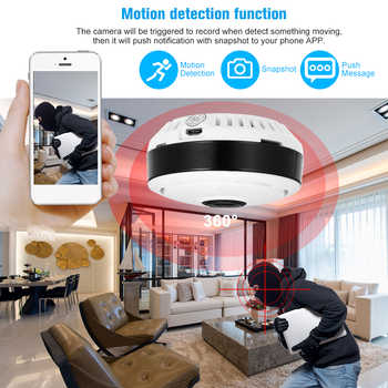 Wireless IP Camera 960/1080P Mini Panoramic Fish Eye WIFI 360 Degree Camera for Android/IOS APP Remote Control Motion Detection