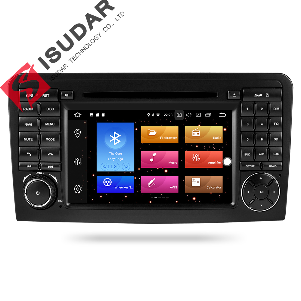 Isudar Car Multimedia Player GPS Android 8.0 2 Din For Mercedes/Benz/ML CLASS W164 ML350 ML300 DSP 4GB RAM car radio GPS wifi все цены