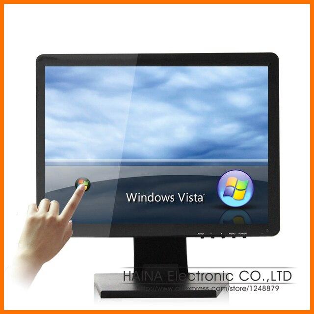 Venda quente! 4:3 Monitor de tela de toque de 15 polegada, Computador monitores de tela de LCD com tela de toque USB