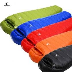Saco de dormir tipo momia exterior ultraligero invierno otoño pato blanco abajo saco de dormir adulto Camping senderismo escalada viajes