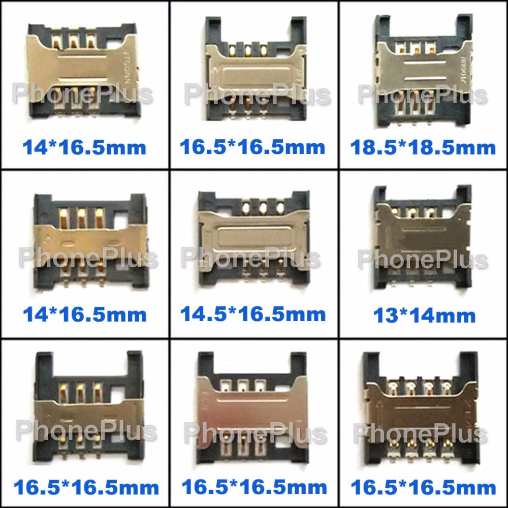27PCS SIM Card Tray Slot Connector Socket With Screws For Most Cellphone Smartphone Common used