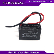 5pcs CBB61 2uf starting capacitance AC Fan Capacitor 450V CBB Motor Run Capacitor