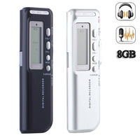 2 Color Rechargeable 8GB 650Hr Digital Audio Sound Voice Recorder Dictaphone MP3 Player High Quality Digital