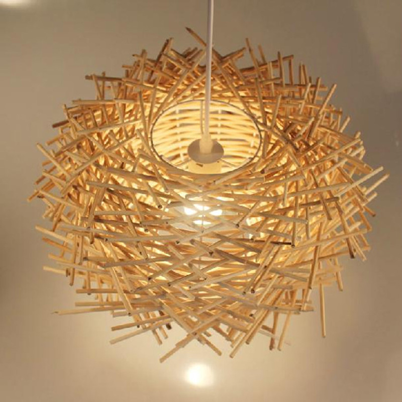 Southeast Asia Crossed Rattan Dining room Pendant Light  Restaurant Country Rustic Pendant lamp Balcony Outdoor  lantern light 5