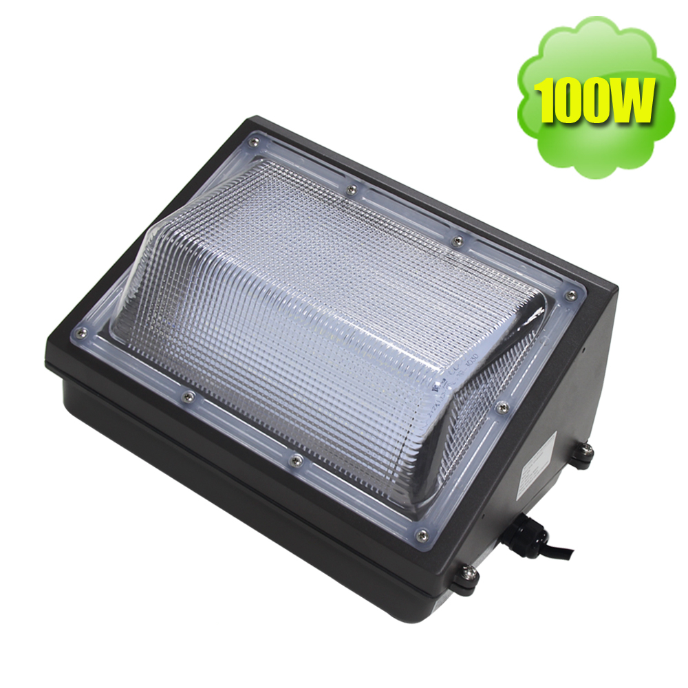 Buy 100w Led Wall Pack Outdoor Flood Light Fixture 12000 Lumens 120v Dusk To