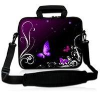 Purple 13 Neoprene Laptop Carrying Bag Sleeve Case Cover W Side Pocket Shoulder Strap For 13