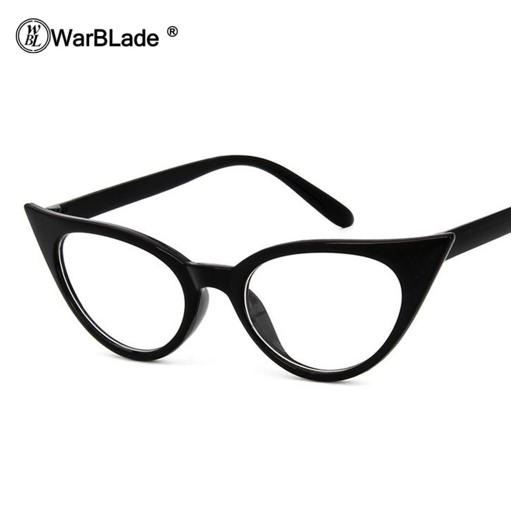 0a3ea67e0c1 WarBLade Women Cat Eye Glasses Frames Cat s Eye Clear Eyeglasses Ladies  Spectacles Frame Retro Women s Glasses Brand Designer