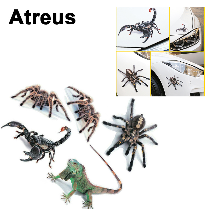 Atreus Car Styling 3d Cool Spider Stickers Covers For Mercedes Benz W204 W203 W211 Amg Mini Cooper Skoda Octavia A5 Accessories To Help Digest Greasy Food Exterior Accessories