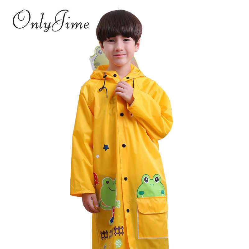 Только Jime/Детские плащи для девочек с героями мультфильмов, дождевик, костюм, милые водонепроницаемые плащи с капюшоном и медведем лягушки, детский плащ