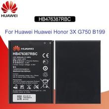 Batería de teléfono Original Hua Wei HB476387RBC para Huawei Honor 3X G750 B199 3000 mAh reemplazo de baterías de teléfono herramientas gratis