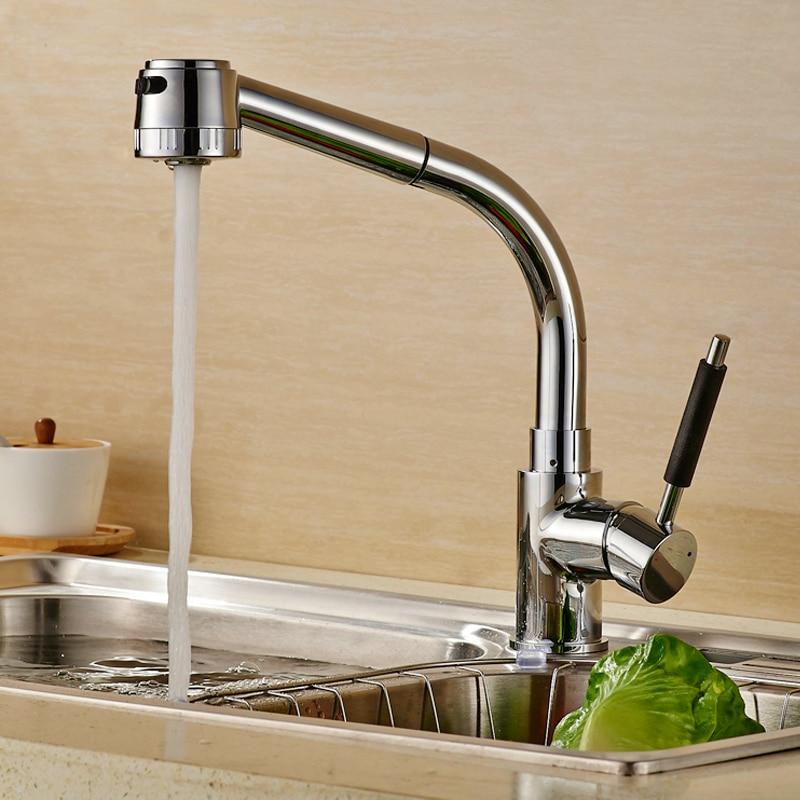 Küchenarmatur mit Pull-down-sprüher Messing 360 Grad Swivel Einzigen ...