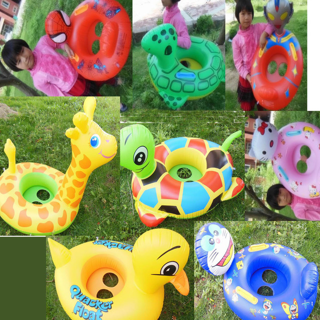 2013 New Arrival10 styles inflatable swimming ring boat swim ring seat baby childen toys swimming toys peoperties