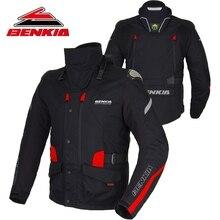 BENKIA Motorcycle Jacket Motorbike Racing Jacket Winter Keep Warm Neck Protective Gear With Detachable Liner Moto