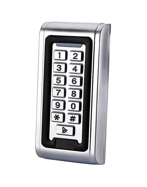 No Touch Button 125KHz RFID Metal Keypad Access Control System Kit +180kg Magnetic Door Lock +  Door Bell