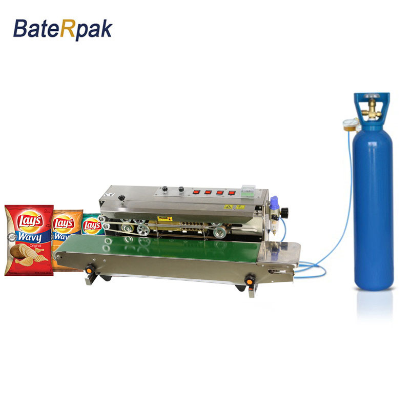FRM-980 Automatic Continuous inflation Nitrogen film sealing machine,plastic bag package machine,Expanded food band sealer automatic bag sealing machines