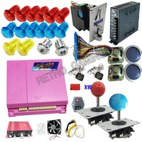 DIY Arcade kit Machine parts With Pandora Box 4S 815 in 1 game jamma board power supply coin acceptor Amplifier Joystick Buttons
