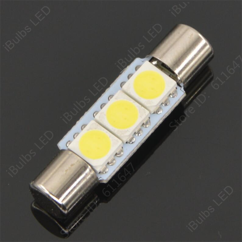 Fits Volvo V70 MK3 2.0 D White 6-SMD LED 39mm Festoon Number Plate Light Bulb