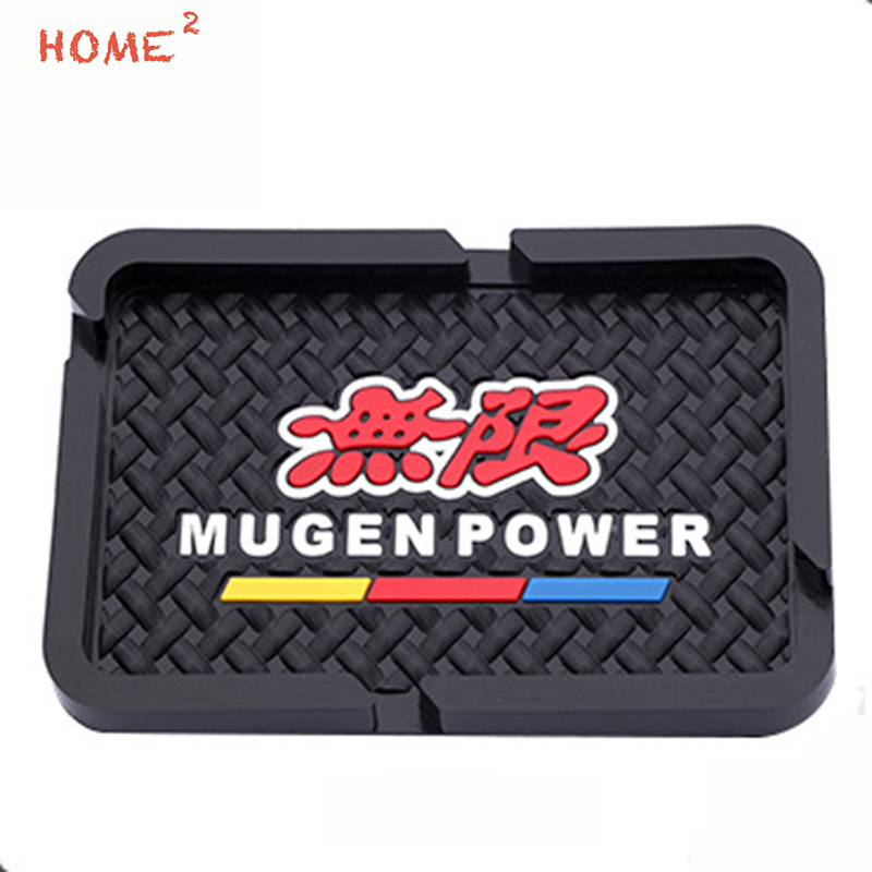 Car Styling Anti-Slip Pad PVC Phone Non-slip Mat Interior Accessories for Mugen Power Logo for Honda H-RV Odyssey Insight CRZ car interior rear cargo trunk mat pad 1set artificial leather for honda crv cr v 2017 2018 car accessories styling