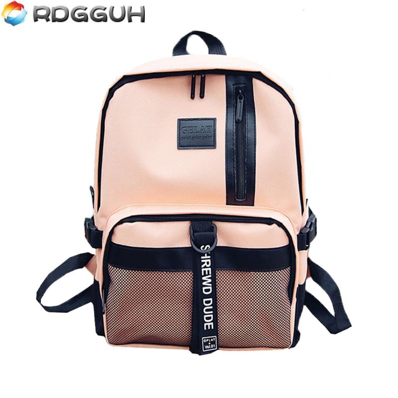 RDGGUH Fashion Men Women Backpacks Harajuku Nylon Backpack For Teenager Girls&Boys School Bags Casual Travel Laptop Bag Mochila big cool 3d animal owl men s backpack fashion leisure laptop backpacks for teenager school bags travel women s backpack
